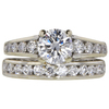 1.07 ct. Round Cut Bridal Set Ring, D, VS1 #2