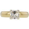 1.12 ct. Square Emerald Cut Solitaire Ring, I-J, SI1 #1