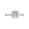 1.51 ct. Round Cut Solitaire Ring, F, I1 #3