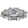 1.01 ct. Round Cut Bridal Set Ring, J, SI2 #2
