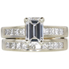 1.32 ct. Emerald Cut Bridal Set Ring, F, SI1 #3