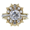 2.10 ct. Round Cut Bridal Set Ring, I-J, I2 #3