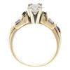 0.9 ct. Round Cut Bridal Set Ring, F, I1 #4