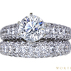 1.60 ct. Round Cut Bridal Set Ring, I, I1 #3