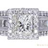 2.05 ct. Princess Cut Halo Ring, K, SI2 #3