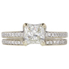 1.05 ct. Princess Cut Bridal Set Ring, K, VS2 #3