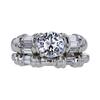 1.04 ct. Round Cut Bridal Set Ring, E, SI2 #4