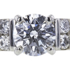 0.78 ct. Round Cut Bridal Set Ring, D, I1 #4