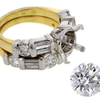 2.19 ct. Round Cut Bridal Set Ring #3