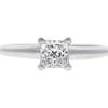 0.76 ct. Princess Cut Solitaire Ring, H, VS2 #3