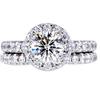 1.04 ct. Round Cut Bridal Set Ring, J, SI2 #1