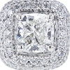 0.8 ct. Cushion Cut Bridal Set Ring, H, VS2 #4