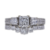 1.00 ct. Princess Cut Bridal Set Ring, F, SI1 #3