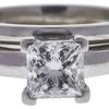 1.04 ct. Princess Cut Bridal Set Ring, H, VS2 #4