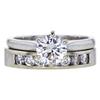 0.86 ct. Round Cut Bridal Set Ring, F, SI1 #3