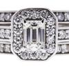 0.84 ct. Emerald Cut Bridal Set Ring, I, SI1 #4