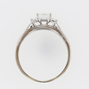0.96 ct. Princess Cut Bridal Set Ring #1
