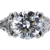 1.52 ct. Round Cut 3 Stone Ring, H, VS1 #4