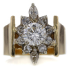 1.50 ct. Round Cut Blossom Cluster Ring #1