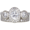 1.01 ct. Oval Cut 3 Stone Other Ring, H-I, VS1 #2