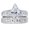 1.55 ct. Marquise Cut Bridal Set Ring #1