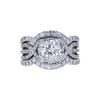 1.12 ct. Round Cut Bridal Set Ring, H, I2 #3