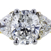 1.54 ct. Oval Cut Bridal Set Ring, F, I1 #4