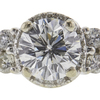0.96 ct. Round Cut Bridal Set Ring, G-H, SI2 #1