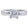 1.00 ct. Radiant Cut Solitaire Ring, F, SI1 #3