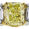 2.22 ct. Radiant Cut 3 Stone Ring, Fancy, VS1 #4