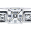 0.87 ct. Asscher Cut Bridal Set Ring, J-K, VVS2-VS1 #1