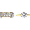0.79 ct. Round Cut Bridal Set Ring, E, VS2 #3