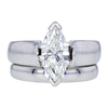 1.50 ct. Marquise Cut Bridal Set Ring, J, SI2 #3