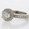 1.05 ct. Round Cut Bridal Set Ring #3