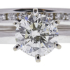 1.63 ct. Round Cut Bridal Set Ring, K, I1 #4