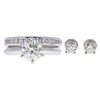 1.63 ct. Round Cut Bridal Set Ring, K, I1 #3