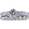 0.53 ct. Round Cut Bridal Set Ring, G, VVS2 #1