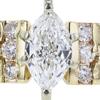 0.64 ct. Marquise Cut Bridal Set Ring, F, VS2 #4
