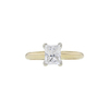 1.00 ct. Princess Cut Solitaire Ring, F, SI2 #3