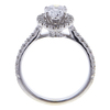 1.01 ct. Pear Cut Halo Ring, D, I1 #4
