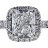 1.00 ct. Cushion Cut Halo Ring, F, VS2 #4