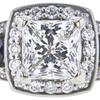1.53 ct. Princess Cut 3 Stone Ring, G, I1 #4