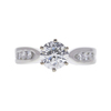 1.01 ct. Round Cut Solitaire Ring, G, SI2 #3