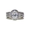 1.24 ct. Oval Cut Bridal Set Ring, G, SI2 #3