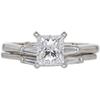 1.15 ct. Princess Cut Bridal Set Ring, D, VS1 #3