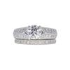 1.01 ct. Round Cut Bridal Set Ring, H, SI2 #3