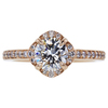 1.02 ct. Round Cut Halo Ring, I, SI1 #3