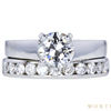 1.09 ct. Round Cut Bridal Set Ring, J, VVS2 #4