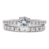 0.79 ct. Round Cut Bridal Set Ring, J, VVS2 #3