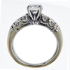 1.00 ct. Round Cut Bridal Set Ring, H, VS1 #4